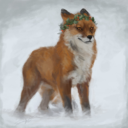 Christmas Fox speedpaint