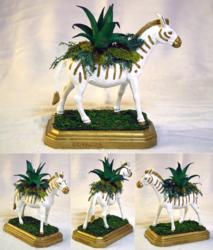 Zebra Planter Centerpiece