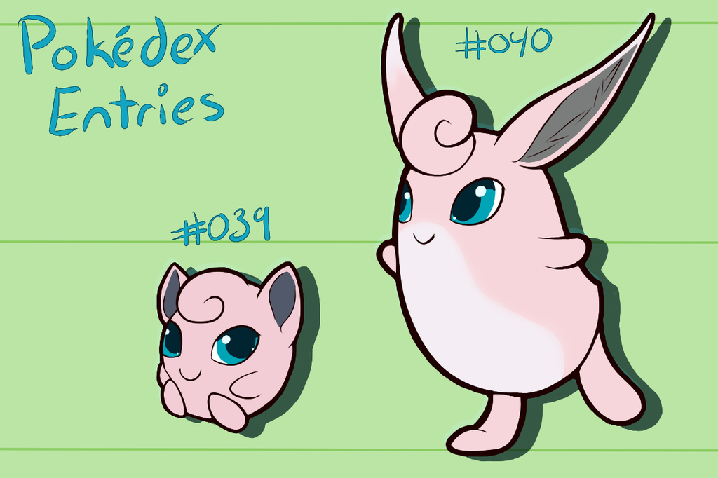 PokeDex Project Entry : 039 and 040