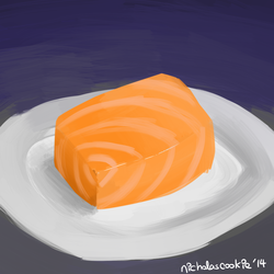 Salmon doodle