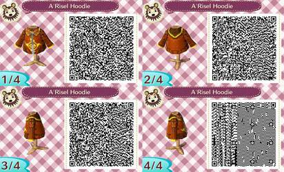 A'Risel Hoodie QR Code For Animal Crossing New Leaf