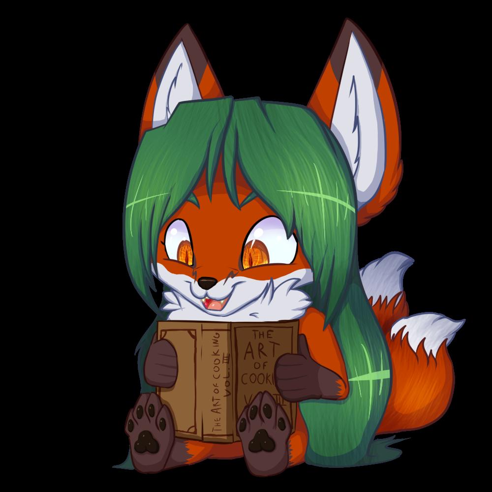 Chibi Kyia reads