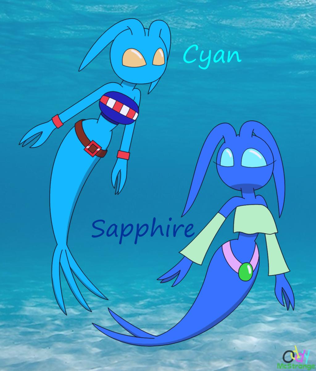 Cyan and Sapphire