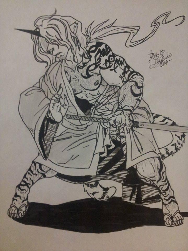 Samurai White Tiger Ronso
