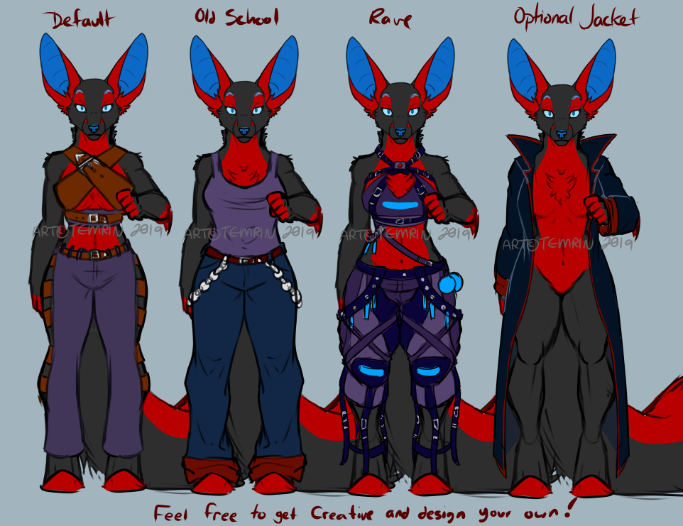 Art Fight - Temrin Outfits Ref