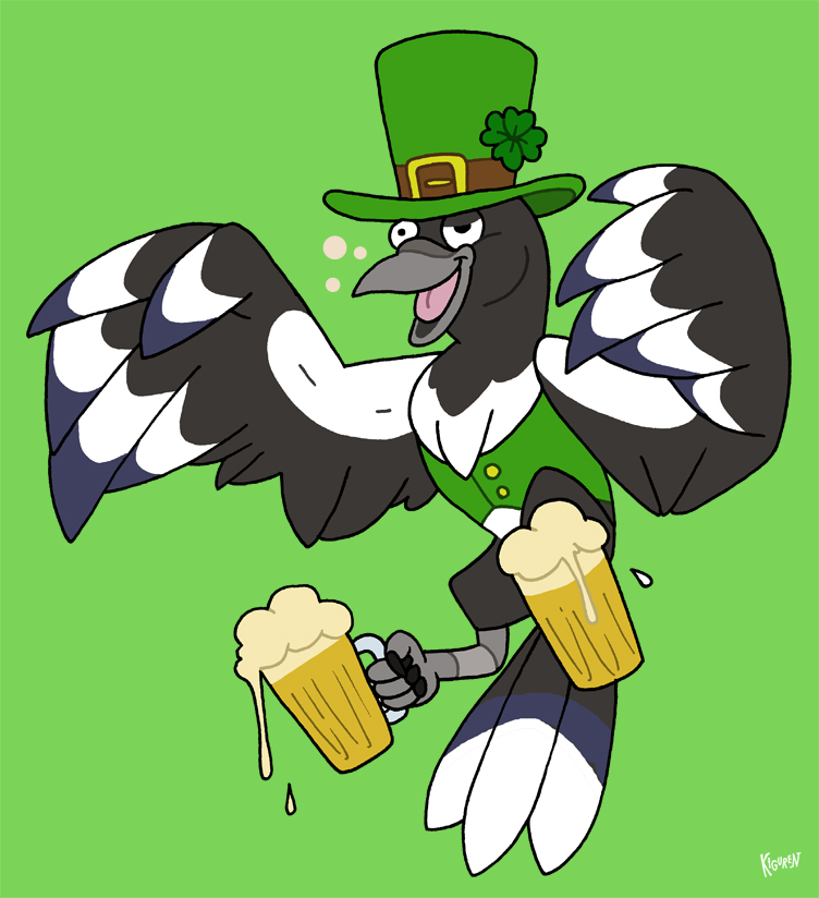 Slightly Irish Bird ~ by Kiguren
