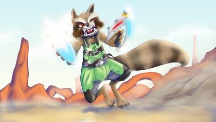 Rocket Retaliates Rapidly   Rocket Raccoon