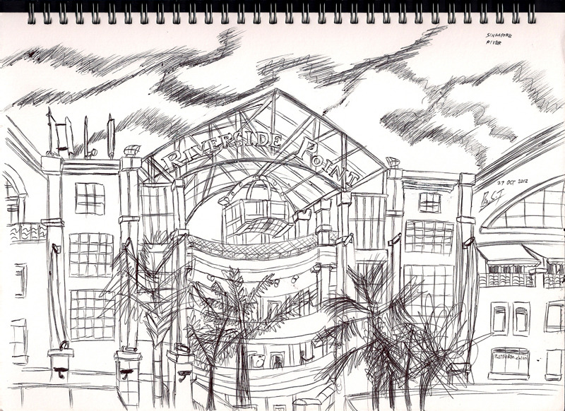 Urban Sketch - Clark Quay Riverside Point