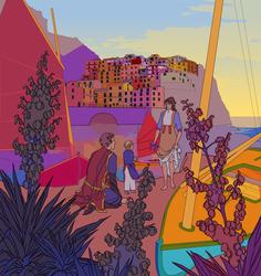 Evariste, Sylvia, and Maria [illustration]