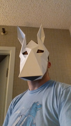 Bull Terrier Low Poly Mask