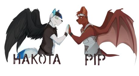Hakota and Pip double badges