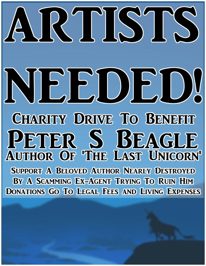 ARTISTS NEEDED - Peter S. Beagle Charity Drive