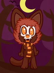 An Halloween AC Cat.
