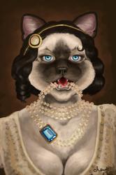 Like pearls on felines