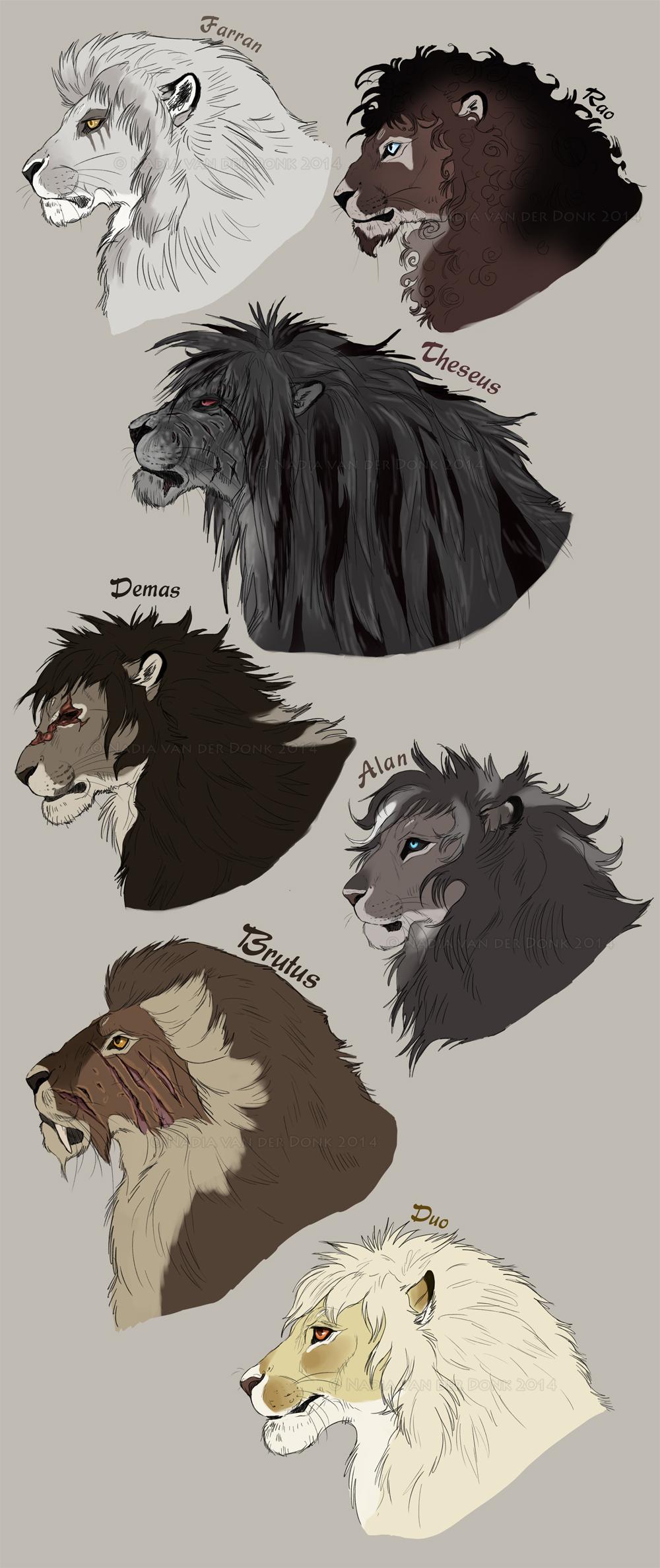 The gentlemen of the Achidar pride.
