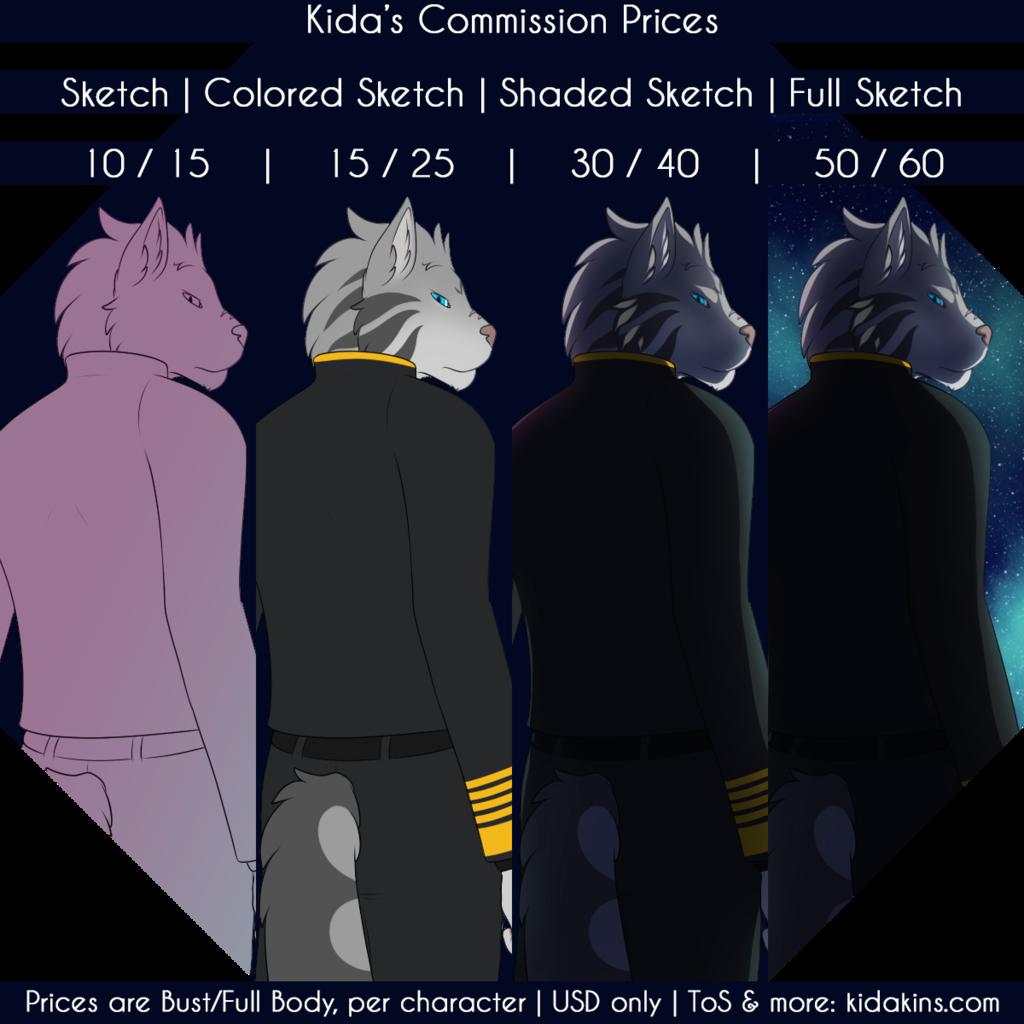 Kida's Commission Prices 2017