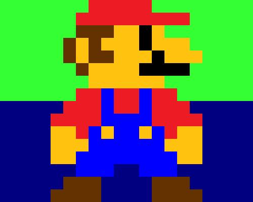 Mario 8 Bits Weasyl