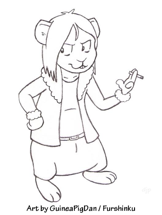 Blaine the guinea pig -sketch-