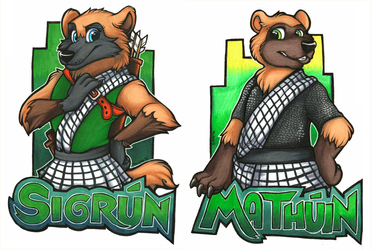 Sigrún & Mathúin Zootopia Themed Badges (GLFC 2016)