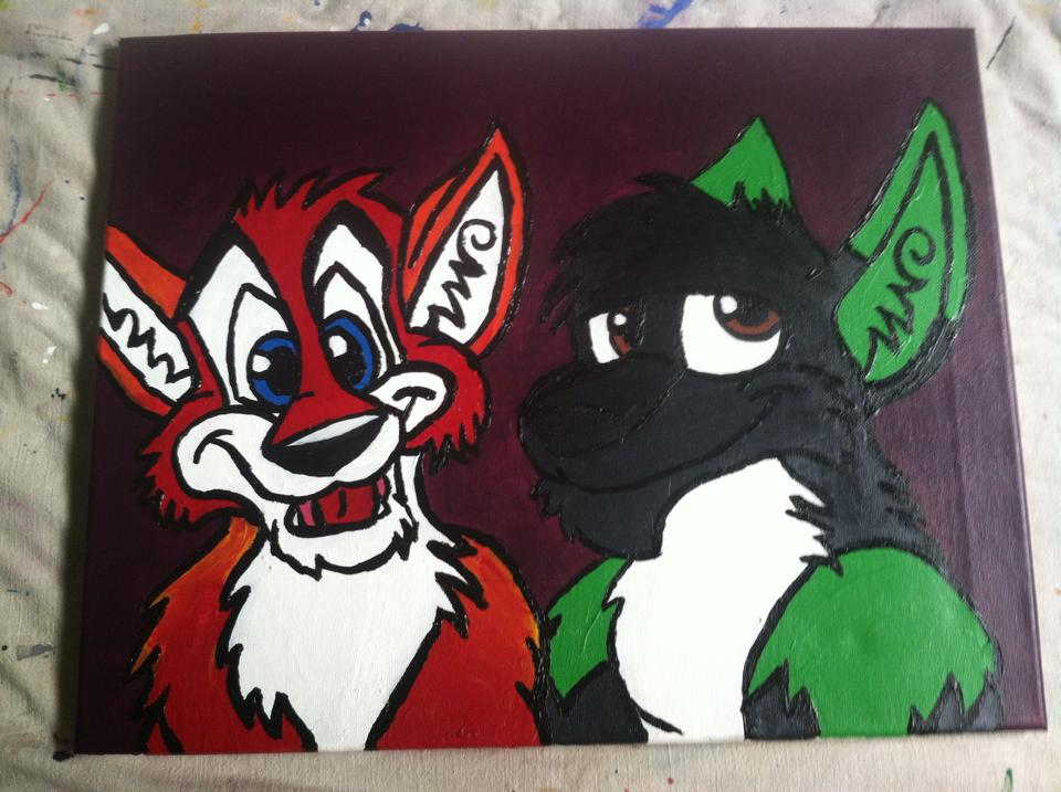 Arion and Kanza Acrylic Painting
