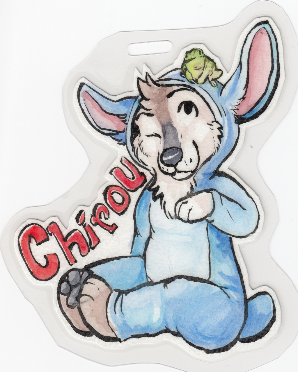 Chirou Stitch Badge - Thay