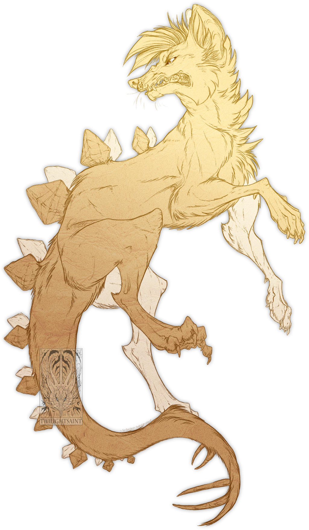 Sketch Comish - Prehistoric Snarl