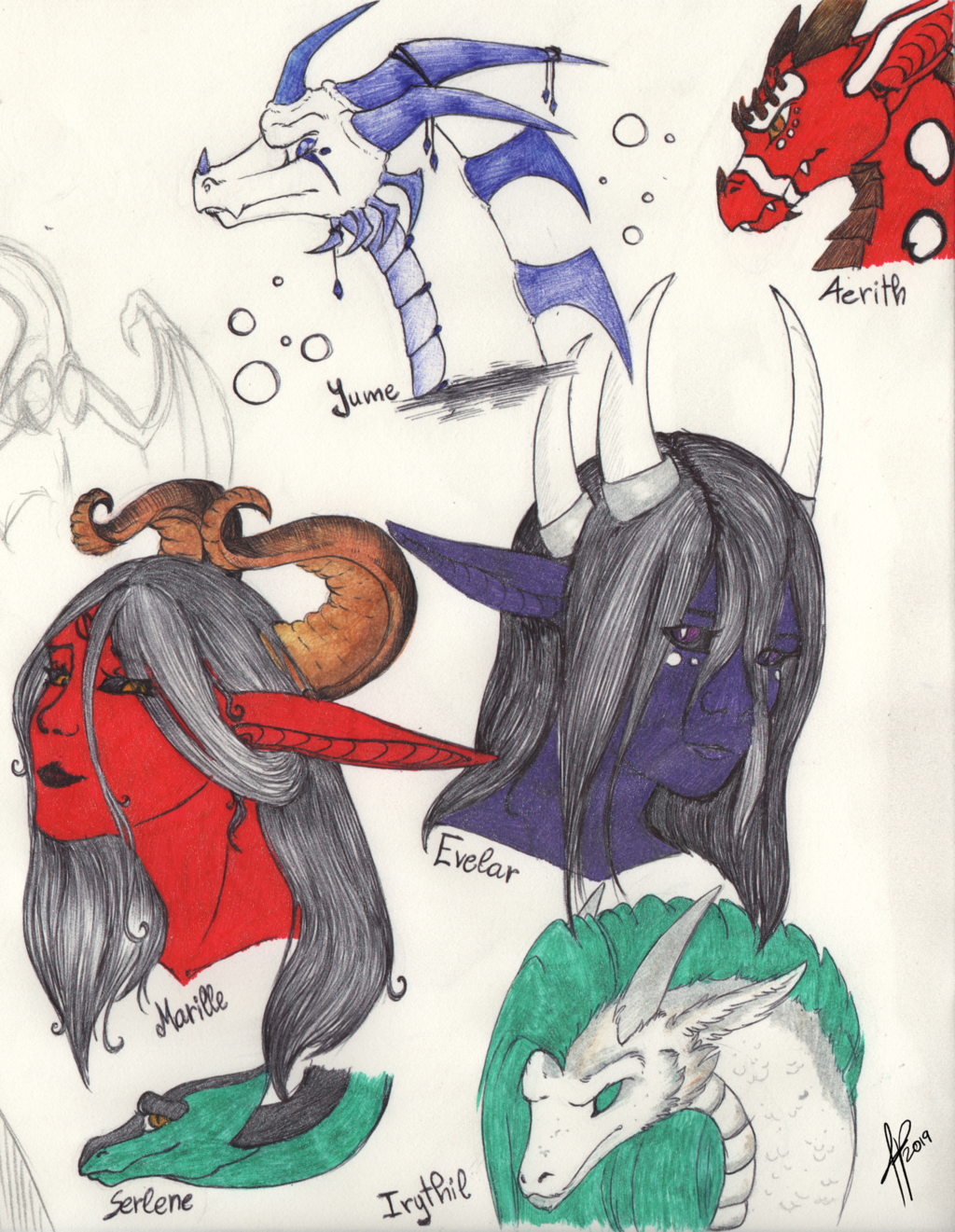 Some of my OC sketches