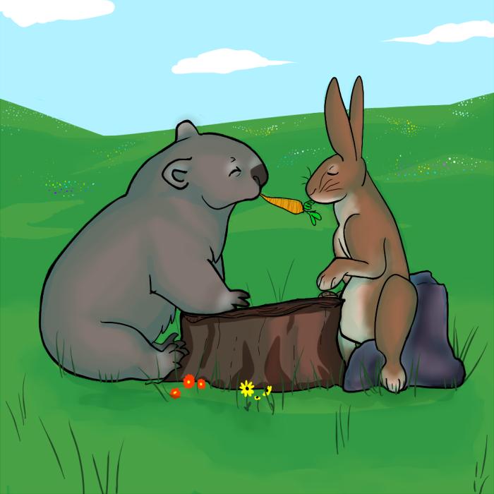 a womrab picnic