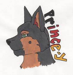 Princey Watercolor Badge