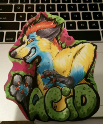 Acid badge