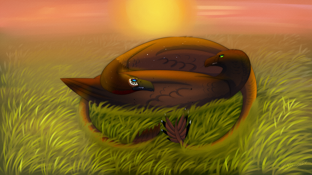 Most recent image: [Dracostryx]Let's relaxing together