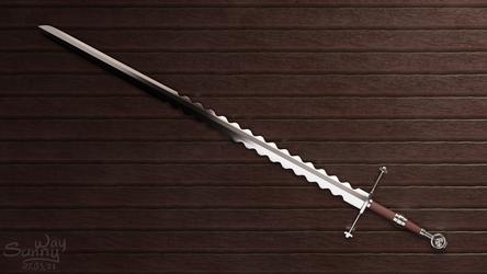 Feline steel sword