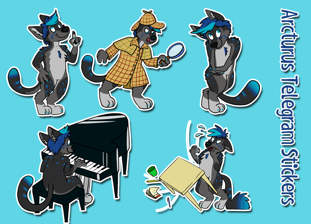 Arcturus Chusky Telegram sticker set!