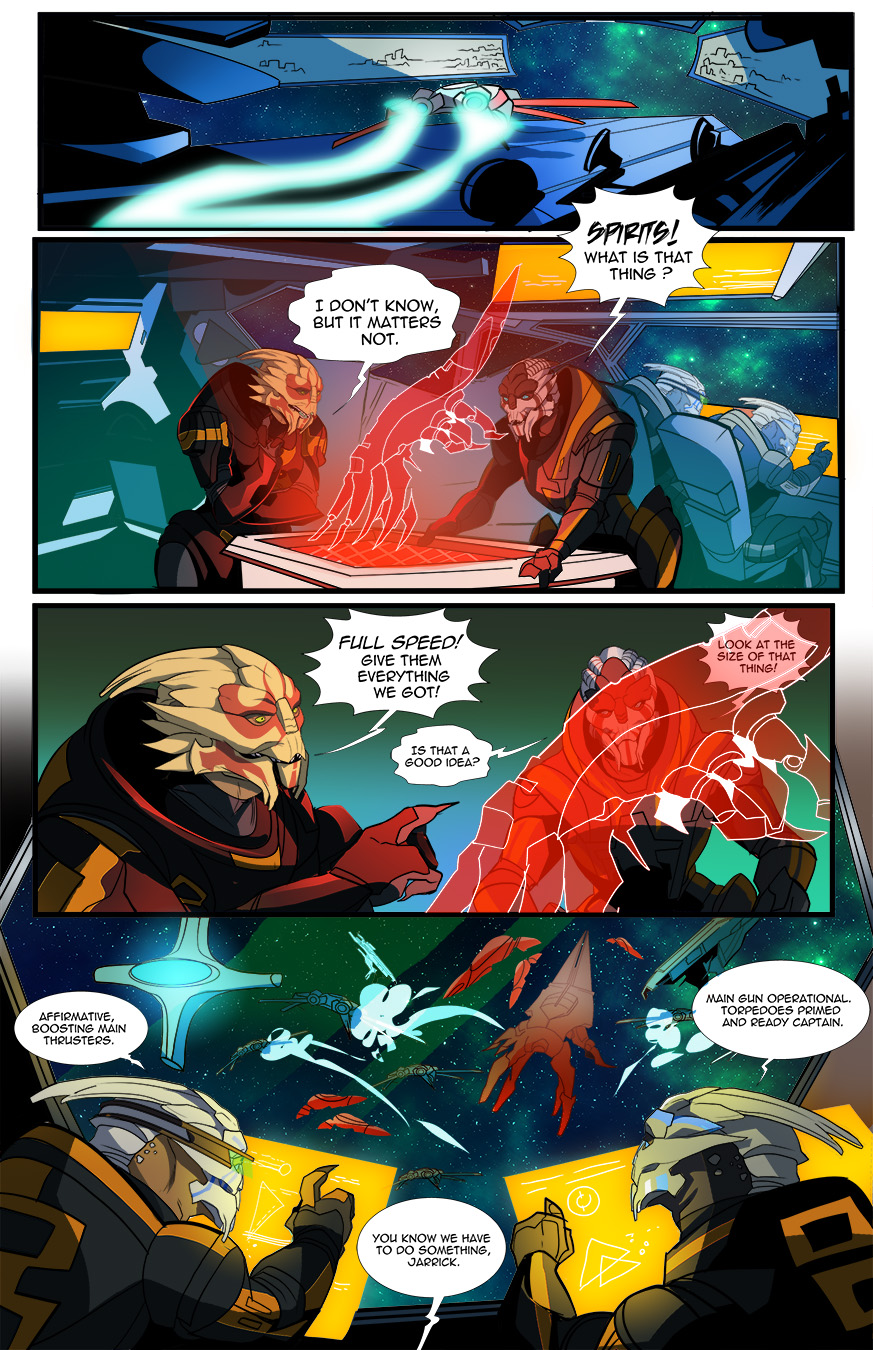 Reapers and Turians Pg.1 (COMMISSION)
