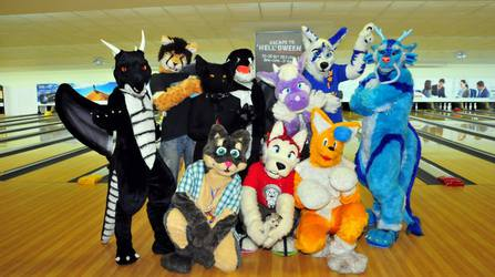 Fursuiters at Singapore Halloween Event (with Video)