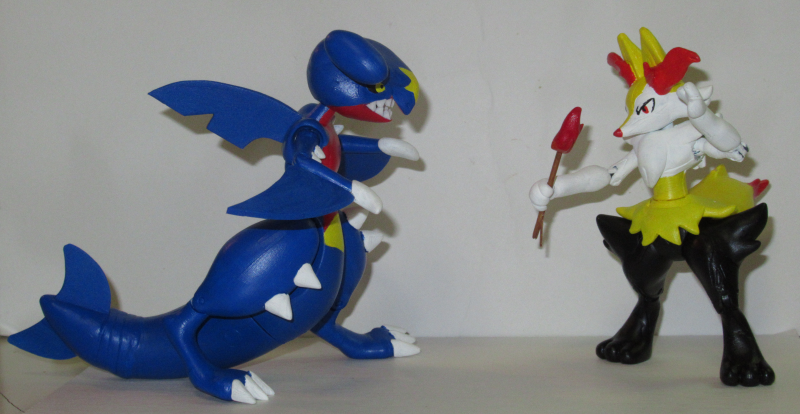 Garchomp vs Braixen