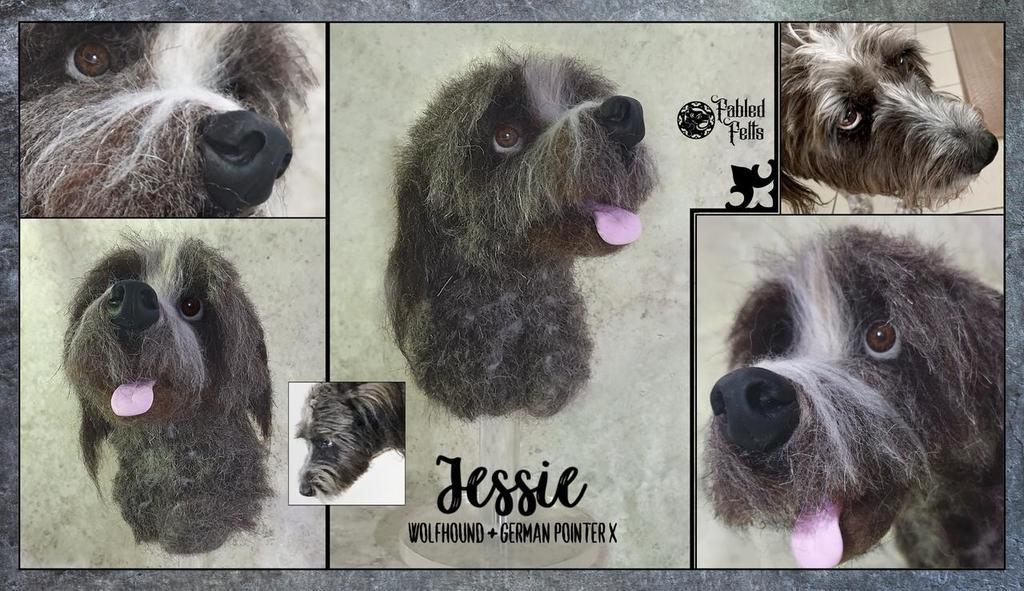 Jessie Irish Wolfhound X needle felt Memorial