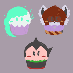 Muffin Collection - OC and fan trio
