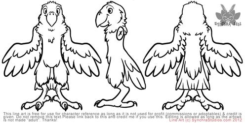 Free Line Art - Parrot!