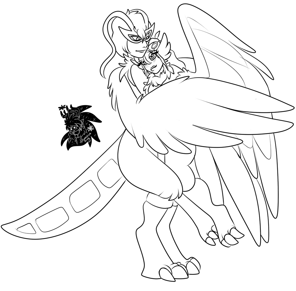 Harpy Lovers +Commission WIP+