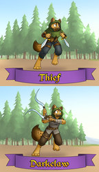 RainFurrest class badges - thief / darkclaw