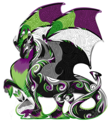 Aro ace pride dragon