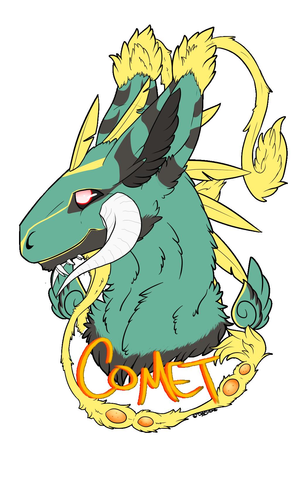 Commission | Comet Dutch Angel Dragon | Flat Color — Weasyl