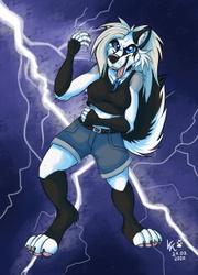 Jessi the Wolfdog + Speedpaint
