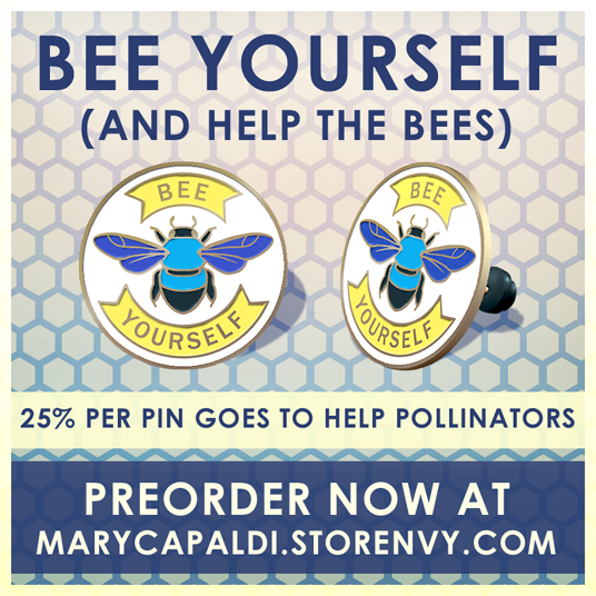 """NEW """"Bee Yourself"""" Enamel Pin! Let's Help the Bees!"""
