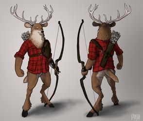 Pantless deer