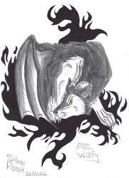 Black and White: Dragonwolfie