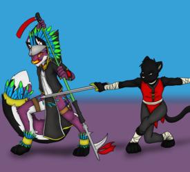 Phantom & Wei-Shu (#1 by LenGrey/Crazy-Husky)