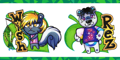 Wish & Rez - Animal Crossing Badges