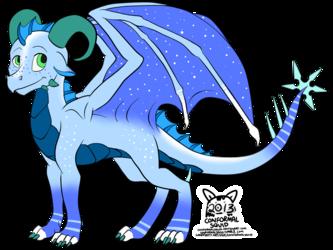 $5 Snow dragon adoptable